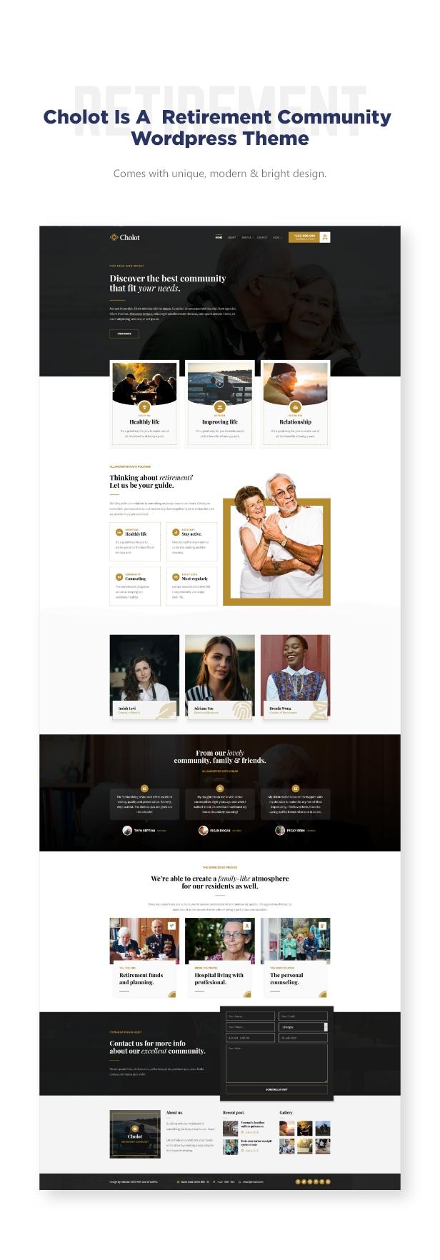 Cholot - Retirement Community WordPress Theme - 1